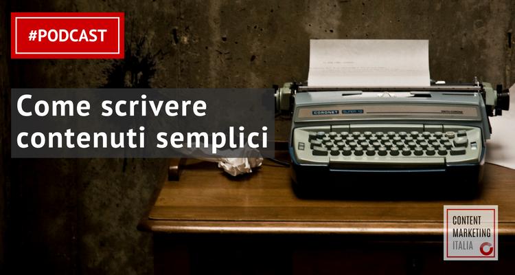 scrivere contenuti semplici