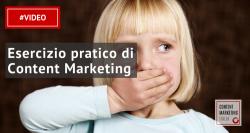 esercizio content marketing