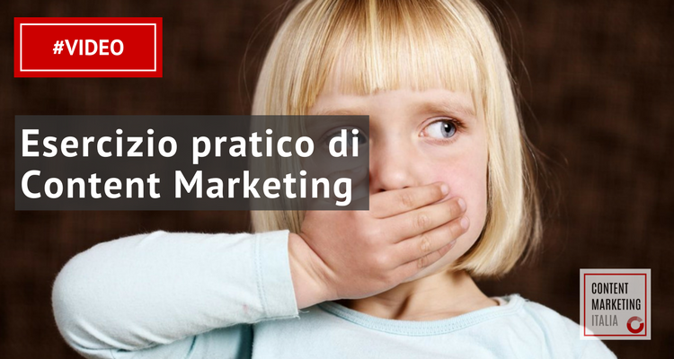 esercizio content marketing