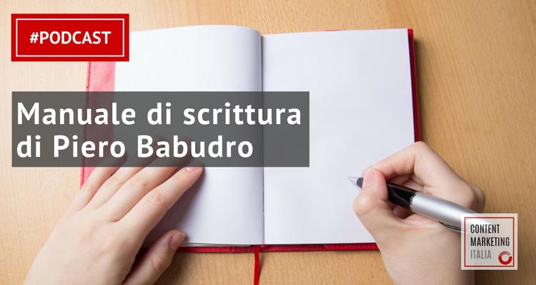 manuale di scrittura piero babudro podcast