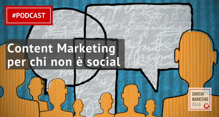 content marketing senza social